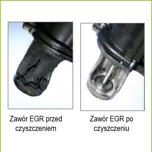 Środek do czyszczenia EGR microflex® 926 żel - przed i po aplikacji
