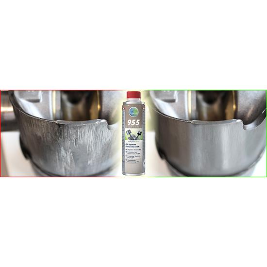 Ceramizer microflex® 955 BN Ochrona układu olejowego - przed i po aplikacji